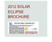 2012 SOLAR ECLIPSE BROCHURE
